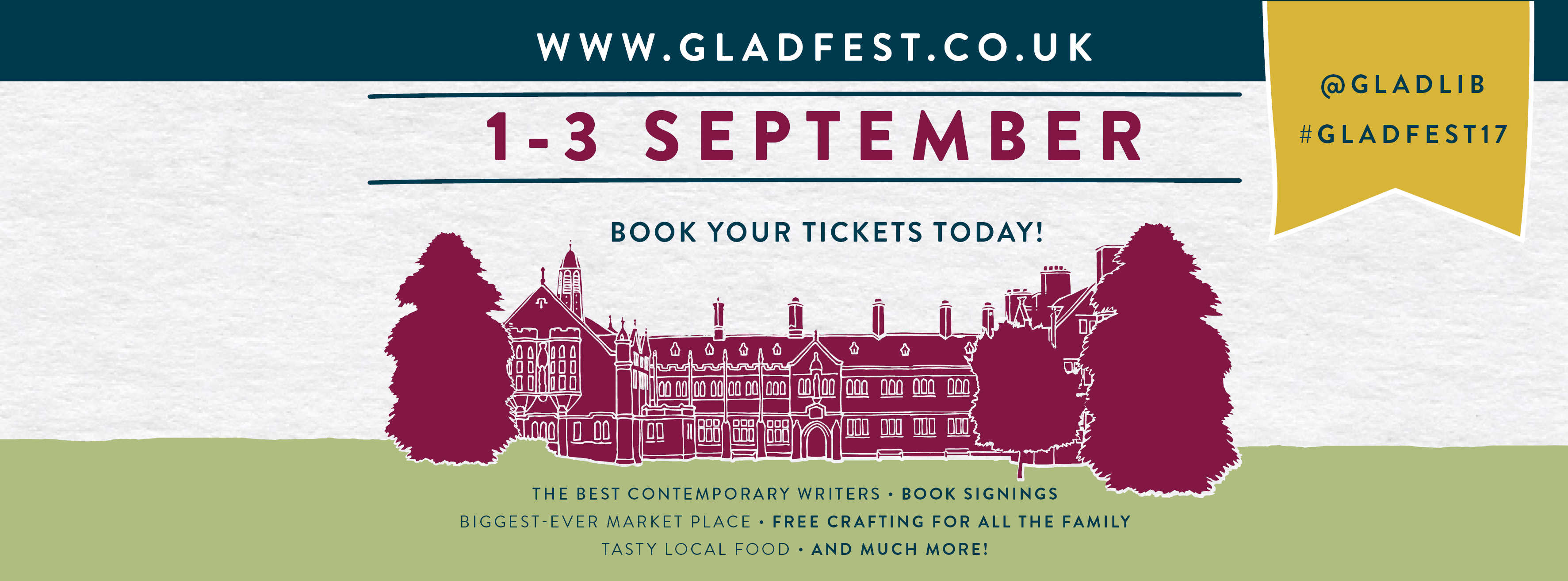 Gladfest tickets onsale now!