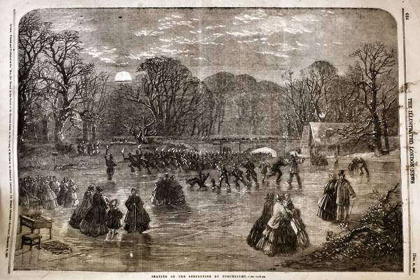 Illustrated London News Woodcut of the Serpentine