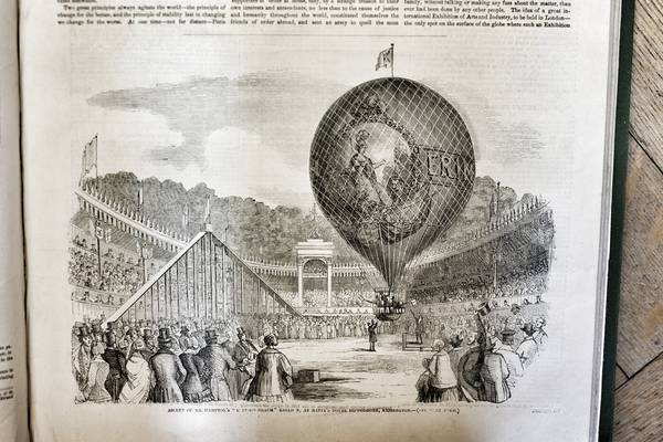Mr Hampton's Balloon from the Illustrated London News
